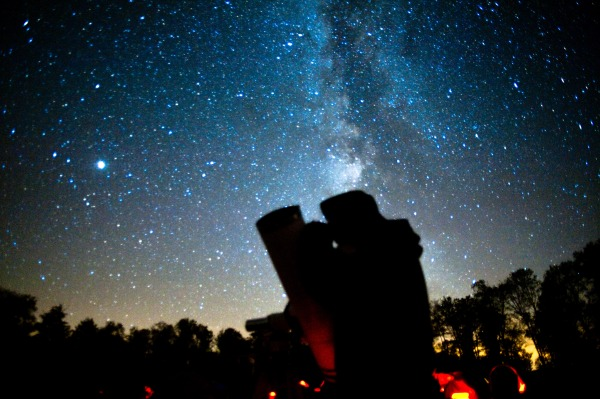 The Author, His Telescope and the Milky Way, Cherry Springs State Park, PA